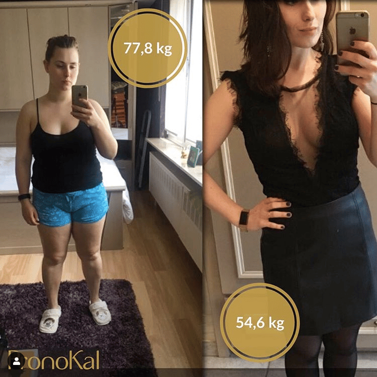 voor en na foto gewichtsverlies
